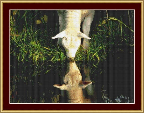 Lamb Cross Stitch Pattern /Digital PDF Files /Instant downloadable