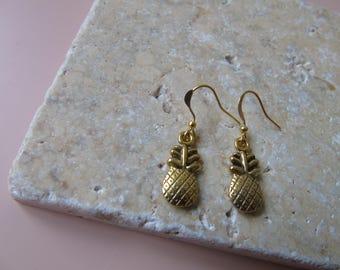 Gold pineapple earrings/ stylish earrings/ quirky earrings