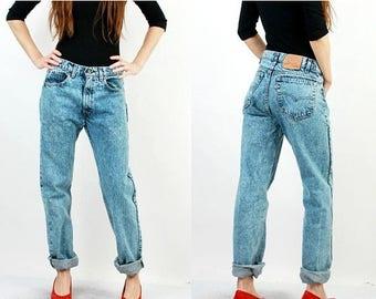 SALE Vintage Levis Jeans / 80s Levis Jeans / Levis 505 Jeans / Levis W33 L34 / Man Levis Jeans / Light Blue Jeans / Levi Strauss / Levi Jean