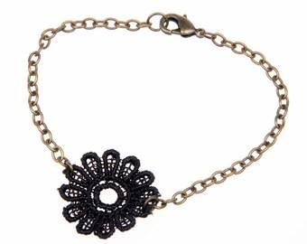 Lace Bracelet, lace jewelry, Cuff bracelet, boho bracelet, gothic bracelet