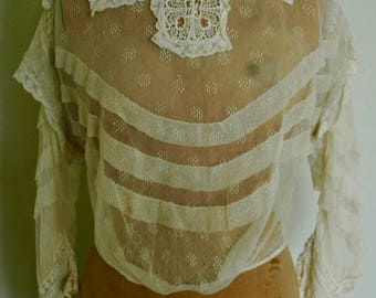 """Collector's Wearable Victorian Lace Blouse - """"Victorian Valentine"""""""