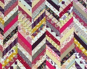Lap, throw, couch, bright colorful modern herringbone chevron zigzag boho chic quilt blanket multicolored floral geometric fall autumn decor