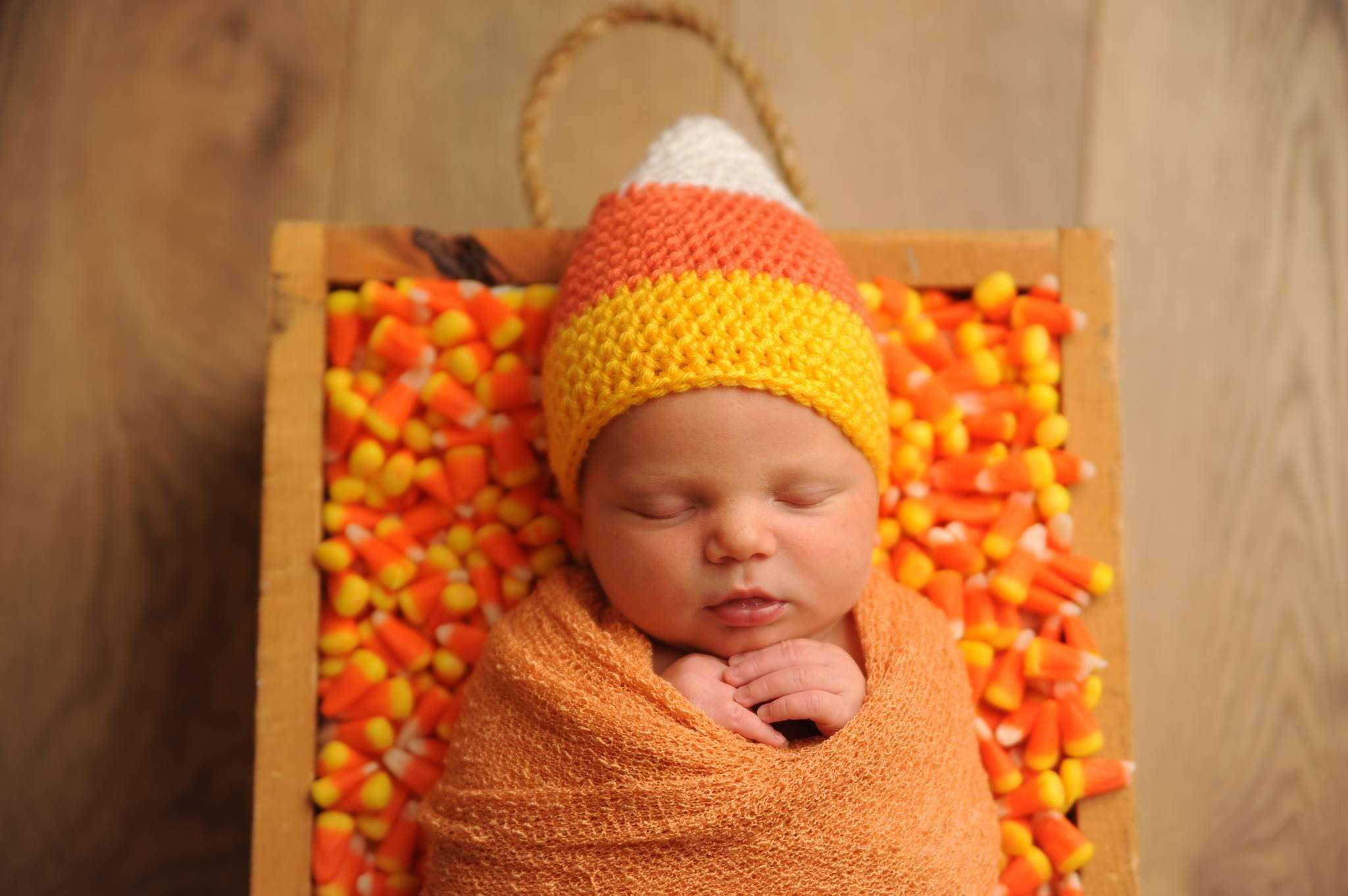 Baby Candy Corn Hat Newborn Crochet Hat Candy Corn Costume