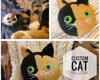 Custom Cat Pillow - Cat Lover Gift - Gift for Cat Owner - Cat Face Pillow