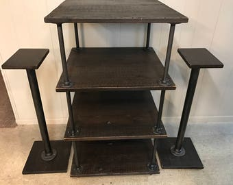 Industrial Media Stand and Speaker Stands