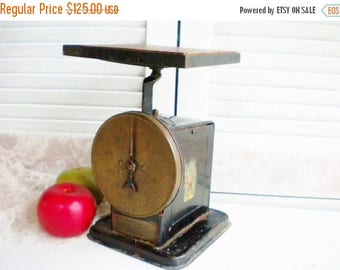 Sale Antique Scale/Kitchen Scale /American Cutlery Scale/Wood Top Scale/Farmhouse Decor/Early Americana/Store Display/Collectable/Industrial