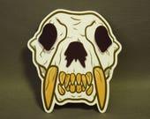 Sabertooth Tiger Skull Vinyl Sticker