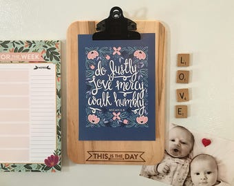 Encouraging Clipboard with Magnetic Back
