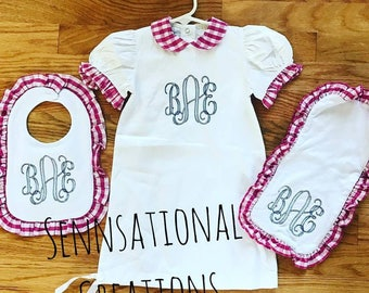 Gingham Baby Set