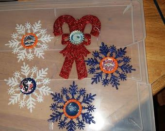 Denver Broncos snowflack ornament