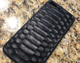 Exotic Python Leather iPhone 7 plus case