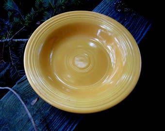 vintage Fiesta yellow flat soup dish, bowl