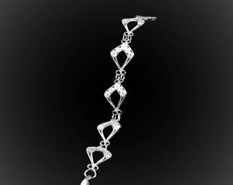 Silver embroidery Wajik bracelet