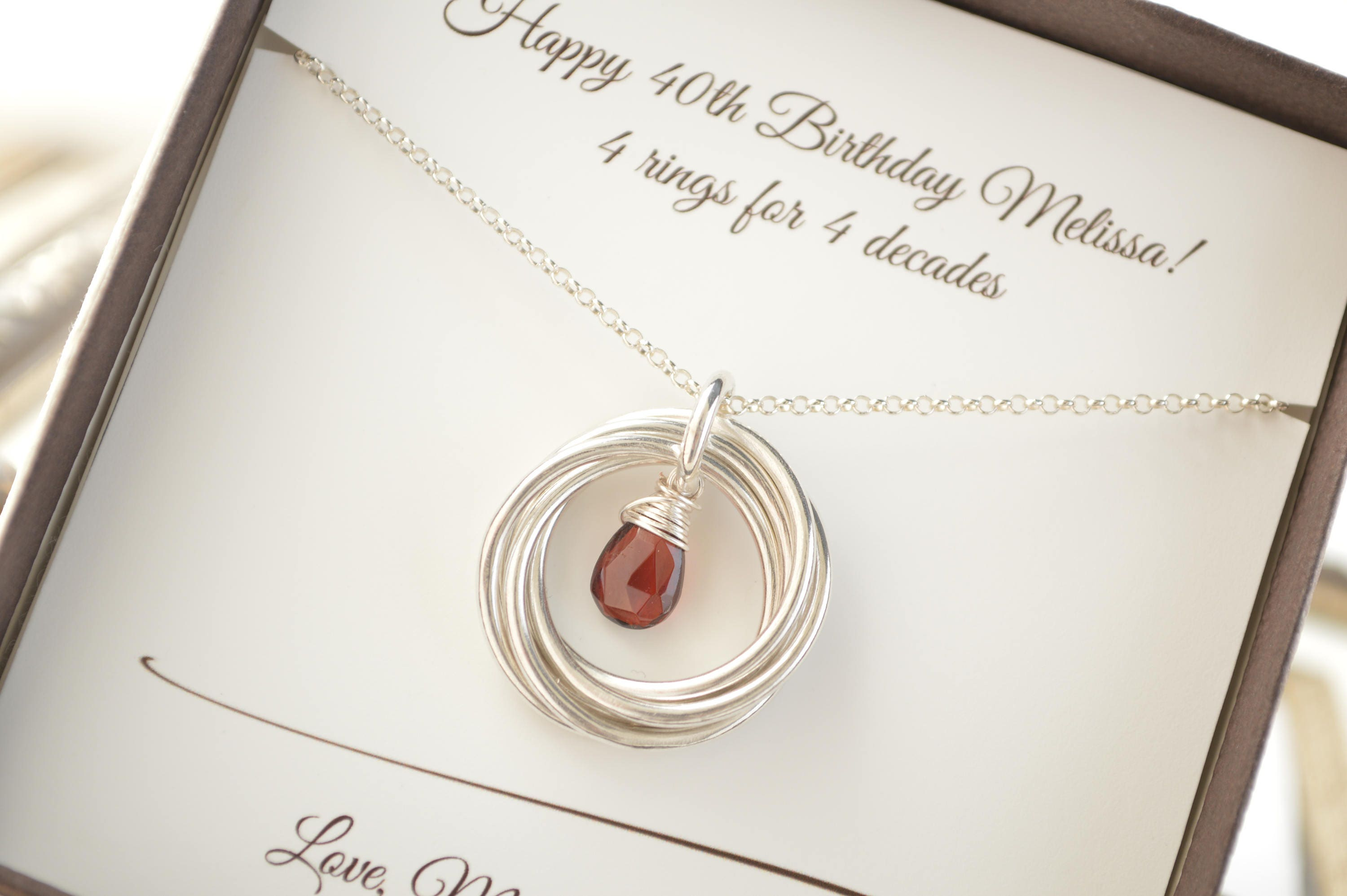 40th Wedding Anniversary Gifts For Friends: 40th Birthday Gift For Women, 40th Birthday Jewelry