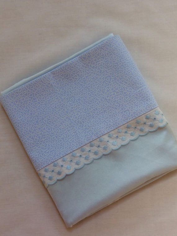 Pale  blue silk and sea island cotton pillowcases