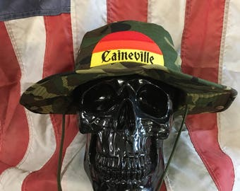 Caineville Utah sunset digger bucket hat camo military boonie