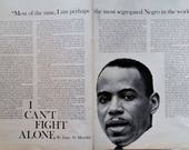 James Meredith Civil Rights Iconn.  Photos and Story Segregation Univ MISS US Veteran Marcher Writer Hero 13 x 10 2 pages Historical Giant