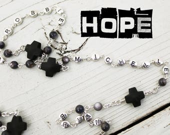 Contemporary Handmade Rosary--Statement Rosary--Personalized--Heirloom Rosary--Catholic--Prayer--Faith--Love--Fathers Rosary--Commemorative