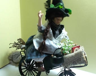 "1/12th dollhouse miniature witch ""Doris Dittany"" the alternative medicine Witch"