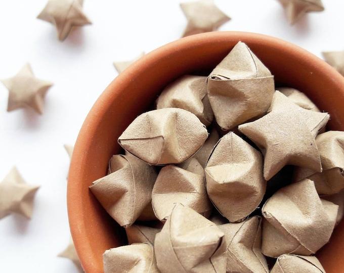 50 mini kraft paper origami stars - wedding favours - wedding decoration - party decor - custom wedding