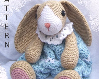 Crochet Bunny Pattern-Crochet Rag Doll Bunny Pattern-Amigurumi Rabbit-DIY Stuffed Toy-Stuffed Animal Tutorial-Snuggly Bunny Crochet Pattern