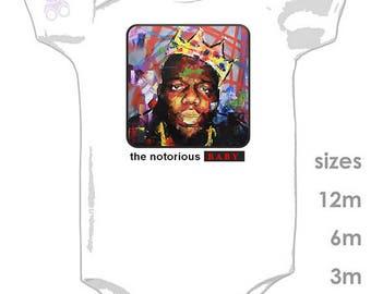 The Notorious BABY - Biggie Smalls - Hiphop onesie for your lil' rapper - Biggie onesie