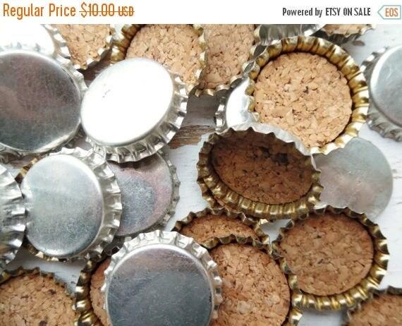 On sale bottle caps soda pop beer cork lined caps set for Soda caps for sale
