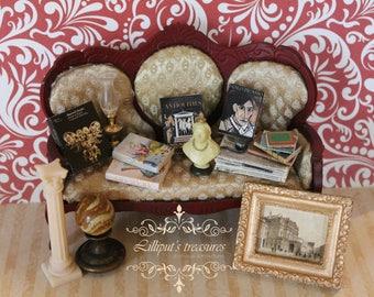 Dollhouse miniature awesome set of 5 art's books