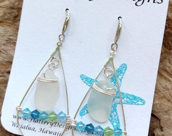 Hawaiian Sea Glass Earrings