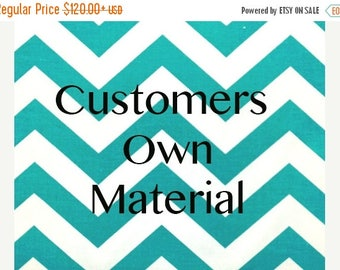 SALE Curtain Panels with Customers own Material  COM