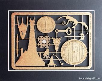 Lord of the Rings, Kit Panel, 3D Art, Hobbit, Mordor, Horror Movie, Art