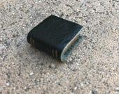 Dark Green Leather Book - Dollhouse Miniatures