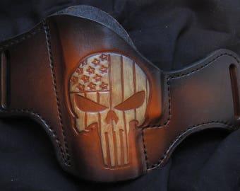 Custom Handmade Punisher Left Hand Holster for HK VP9, VP30