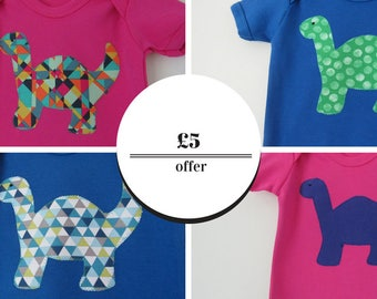 Baby Dinosaur t-shirt - Baby clothes - New baby gift - Newborn- SALE