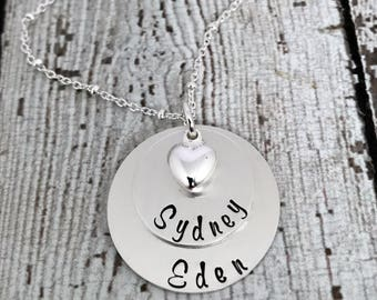 Necklace with Kids Names, Personalized Mom Necklace, Personalized Necklace for Mother, Necklace for Mom, Grandma Necklace, Mom Jewelry