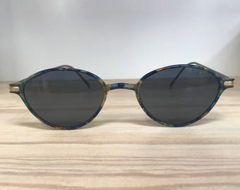 Nylyt thin oval-cat eyes vintage sunglasses