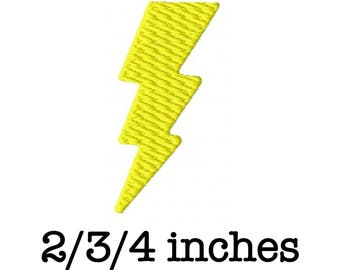Lightning bolt machine embroidery design 2/3/4 inch instant download