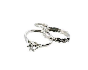 Sterling Silver Large Wedding & Engagement Rings Charm For Bracelets