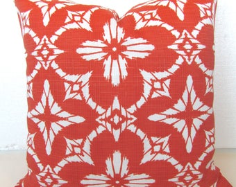 CORAL PILLOW Coral Pillow Covers Coral OUTDOOR Pillows Coral Pillow Orange  16 18 20x20 Coral Outdoor