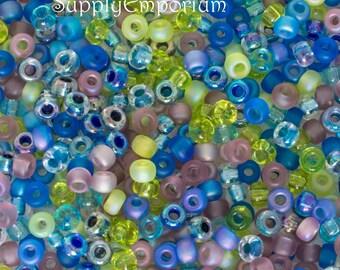 5/0 Miyuki Jeweltone Mix Seed Beads, Large Seed Bead Jewel Tone Mix, Jewel Tone Miyuki 5/0 Mix, 18 Grams, 4950