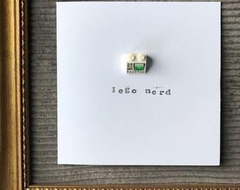 Lego Nerd Geek Card, Funny, Lego Lover