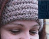 Chunky Knit Headband in Navy Blue - Custom Order