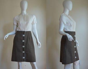 "1960s Ole Borden for Rembrandt Sophisticated Linen Dress Bust 35"""