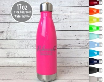 Engraved Stainless Steel Water Bottle, Personalized Water Bottle, Laser Engraved Thermos, Custom Water bottle, Bridesmaid Water Bottle