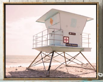 Lifeguard Tower Photography, Ocean Photography, Beach Photography, Lifeguard Station, Wall Art, Blue Skies, Beach Photography, CA Dreaming