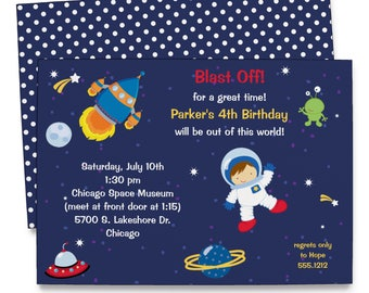Outerspace Invitation | Space Birthday Party | Spaceship Party | Printable Digital File | KBI605DIY
