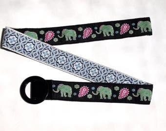 SALE Ladies Designer Belt / Fabric Belt / Reversible Belt / Ribbon Belt / Preppy Belt / BELT SALE