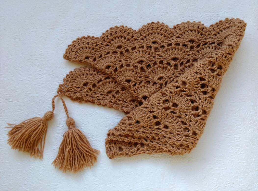 Crochet Baktus Scarf Baktus Scarf Crochet Triangular Scarf Wool