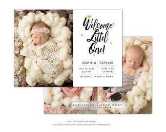 BA1 :. Birth Announcement template | Sweet welcome
