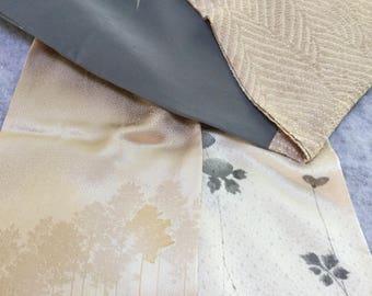 Shibori and trees silk kimono scarf